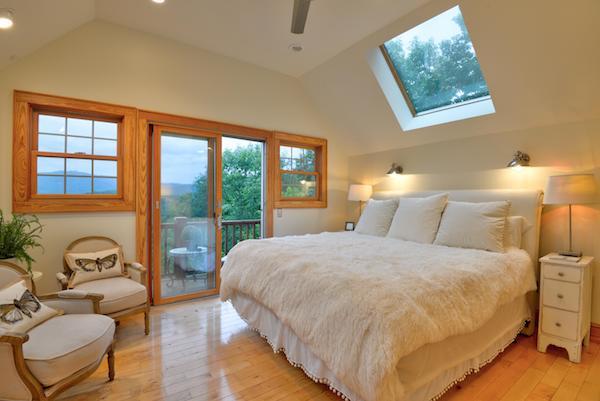 fuzzy white bed